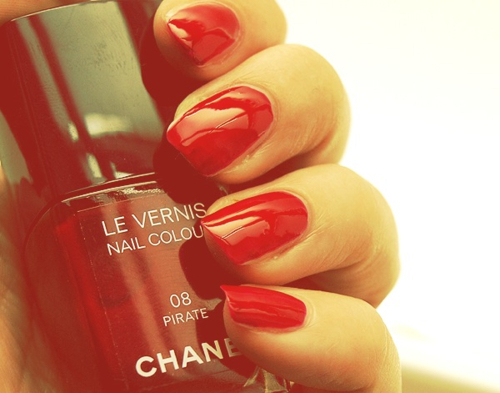 beautiful, chanel, hands, nail polish, nails, pirate, red