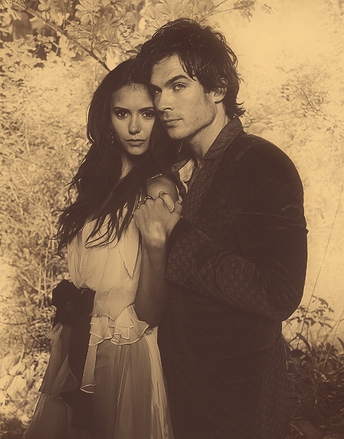 beautiful, couple, damon salvatore, delena, elena gilbert, ian somerhalder, katerina petrova, katherine pierce, nian, nina dobrev, perfect, steferine, tvd, vampire diaries
