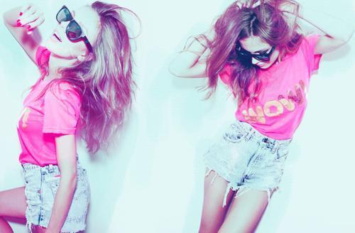 beautiful, crazy, fashion, fun, girl, gorgeous, pink, pretty, raybans, sunglasses, wild