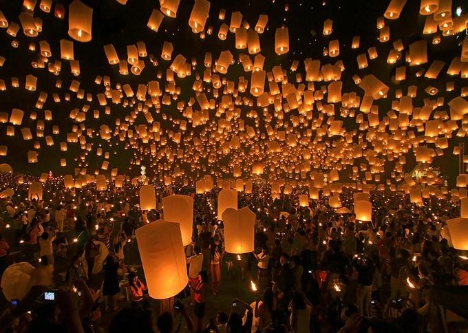 beautiful, cute, festival, landscape, lantern