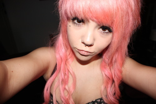 beautiful, cute, girl, hair, photo, photograph, photography, piercing, piercings, pink, pink hair, pretty, septum