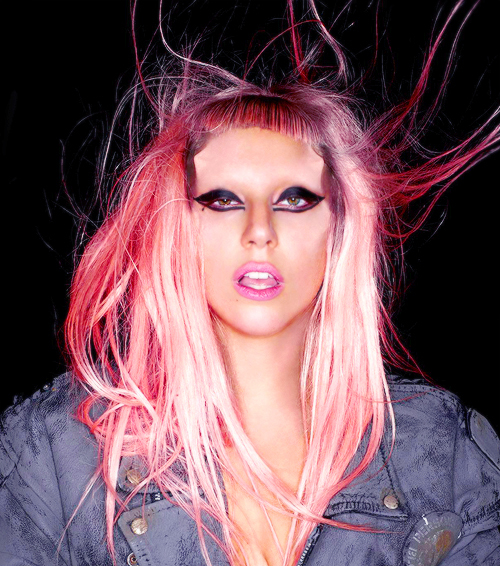 beautiful, gaga, lady gaga, madamelulu, mother monster, pink hair
