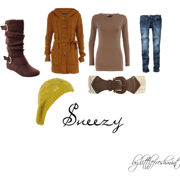 beauty, disney, fashion, polyvore, seven dwarfs, sneezy, snow white, winter