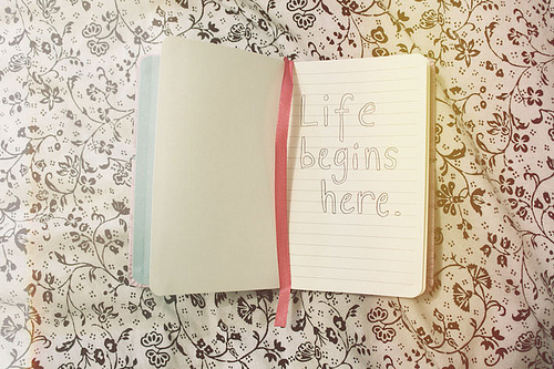begins, diary, flowers, girl, girly, here, inspiradoras, laugh, life, live, love, photography, pink, start, text