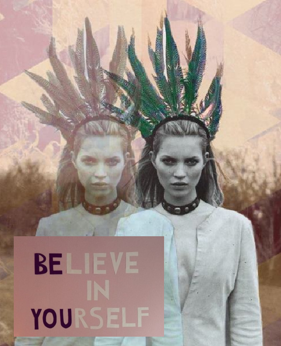 believe, belive, belive in yourself, bohem, bohemian, boho, color, colors, colour, colours, feather, feathers, girl, indian, kate moss, model, nature, quote, saying, text, wisdom, word, words, you, yourself