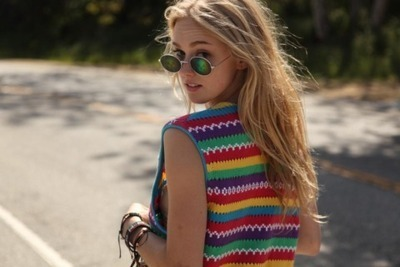 biela, cute, fashion, glasses, hair