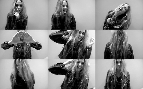 black and white, blonde, girl, hipster, photobooth