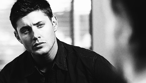 black and white, boy, dean winchester, eyes, jensen ackles, lips, supernatural