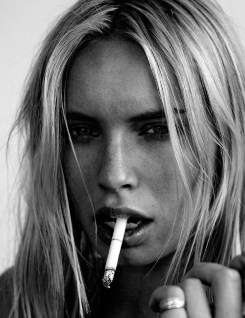 black and white, cigarette, fashion, girl, rebel, smoke