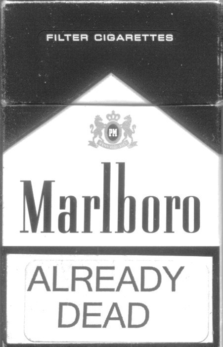 black and white, cigarettes, marlboro