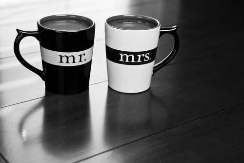 black and white, couple, couples, cup, cups