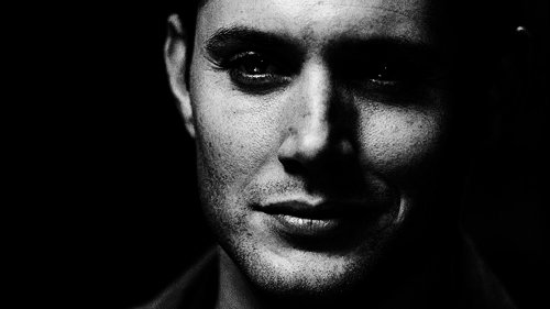 black and white, dean winchester, jared padalecki, jensen ackles, lips