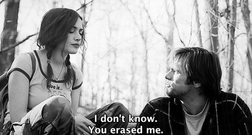 black and white, erase, eternal sunshine of the spotless mind, girl, idk