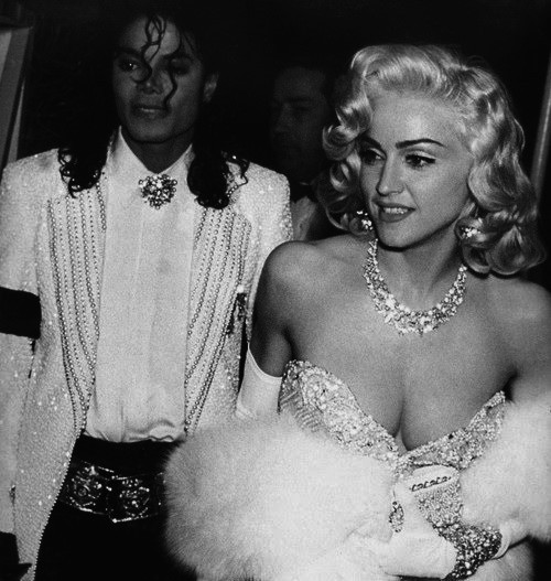 black and white, looks like gwen stefani, madonna, michael jackson
