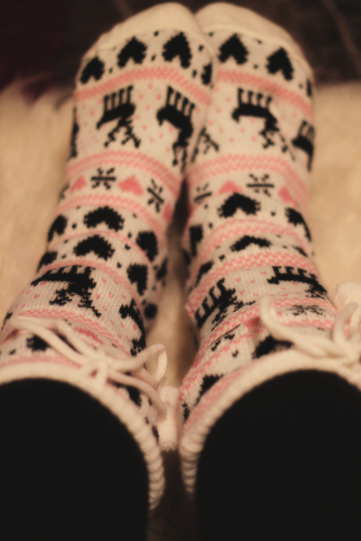 black, christmas, cute, fluffy, heart, pink, slippers, snow, socks, soft, white