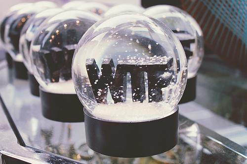 black, cool, funny, snow, snow globe