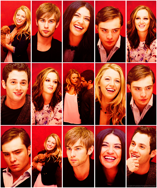 blair, blake lively, chace crawford, chuck, dan, ed westwick, gossip girl, leighton meester, nate, penn badgely, serena, vanessa