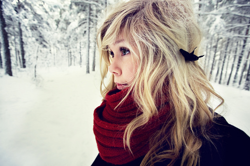 blond, cute, girl, pretty, scarf