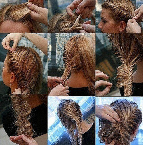 blonde, braid, brunette, cute, hair tutorial