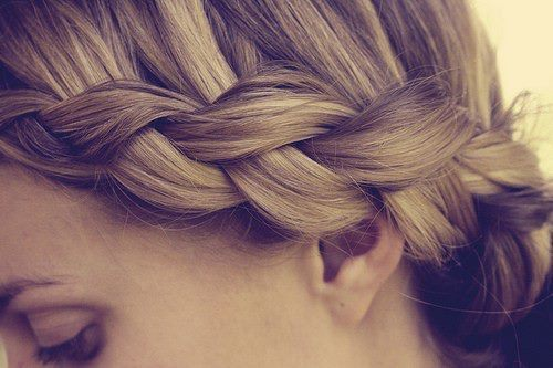 blonde, braid, girl, hair, hairstyle