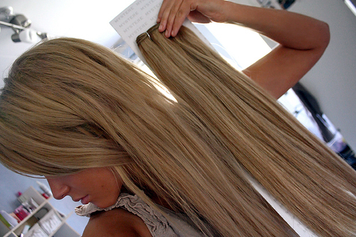 blonde, extensions, fashion, girl, hair