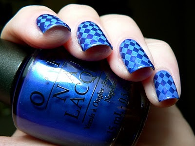 blue, bm16, bundlemonster, full naildesign, nail designs, nail polish, nailart, polish, quilt, stamping