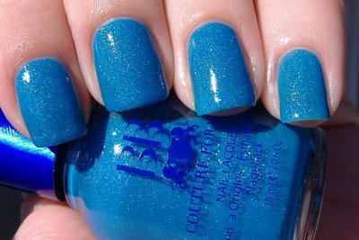 blue nails, colour, cute, nails, nice