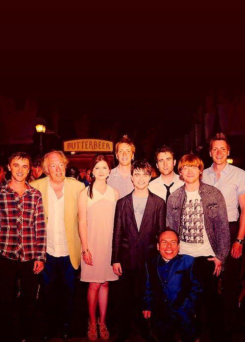 bonnie wright, butterbeer, daniel radcliffe, harry potter, james phelps