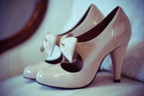 bow, brown, fashion, heels, shoes
