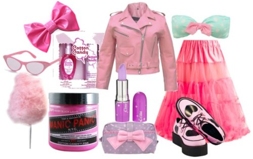 bow, creepers, fashion, hair dye, manic panic