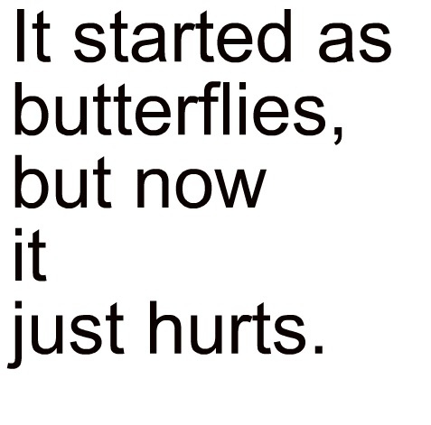 boy, butterflies, cute, girl, hurt, love, pain, quote, text