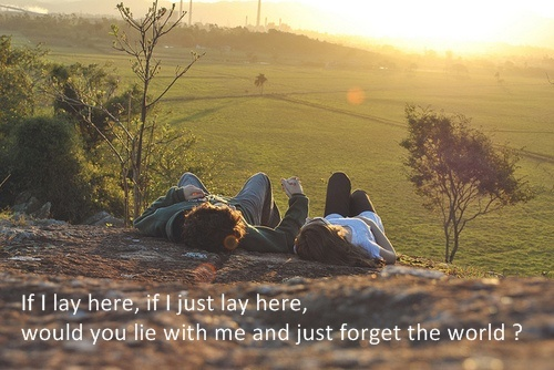 boy, chasing cars, couple, girl, if i lay here