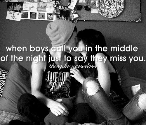 boys, call, couple, cute, girls, love, miss, night, when boys