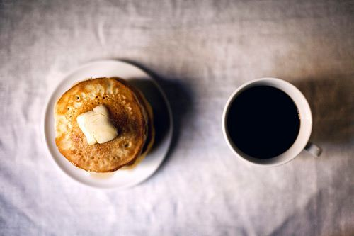 breakfast, coffee, food, mug, pancakes