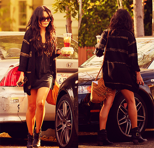 brunette, candid, celeb, fashion, girl, gorgeous, hair, legs, outfit, shades, skinny, vanessa hudgens