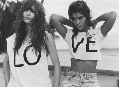 brunette, cool, fashion, friends, girls, love, style, tshirt