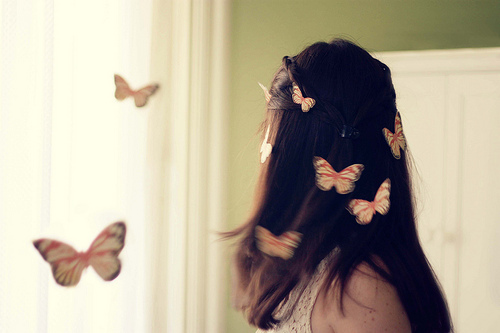 butterflies, fashion, girl, model, photography