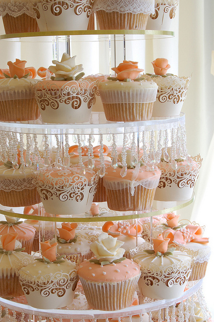 cake, cupcakes, flower, food, girly, kawaii, pastel color, soft color
