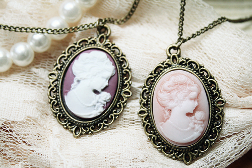 cameo, fashion, necklace, vintage