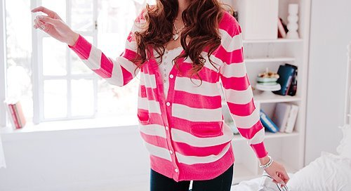 cardigan, fashion, fashionista, pink, style, stylish, sweater, vute