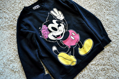 cartoon, crewneck, drop dead, shirt, sweatshirt