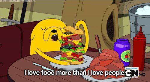 cartoon network, i love food, text, yumm