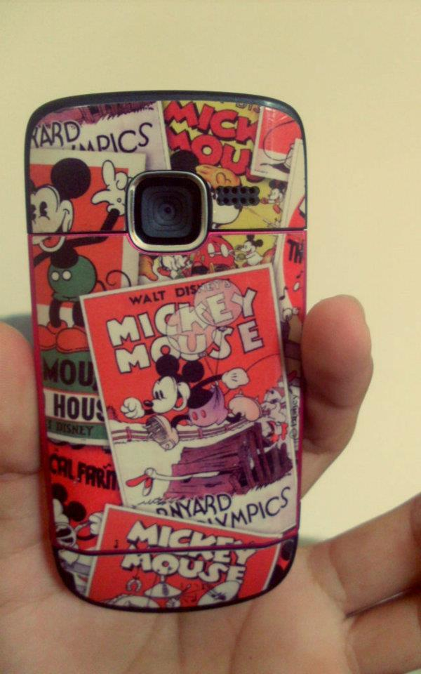 cellphone, celular, disney, mickey, stick