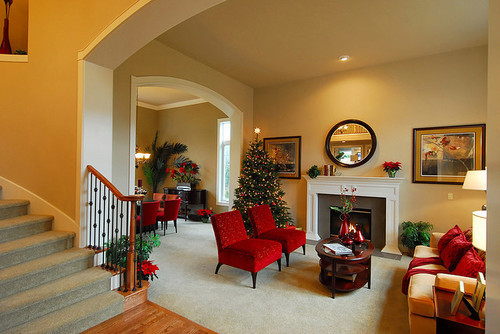 christmas, christmas tree, decor, living room