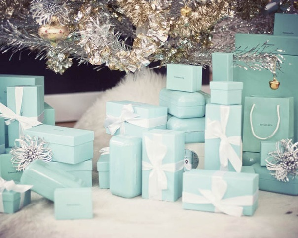 christmas, green, paradise, presents, tiffany