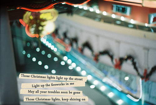 christmas lights, coldplay, film, lyrics, song