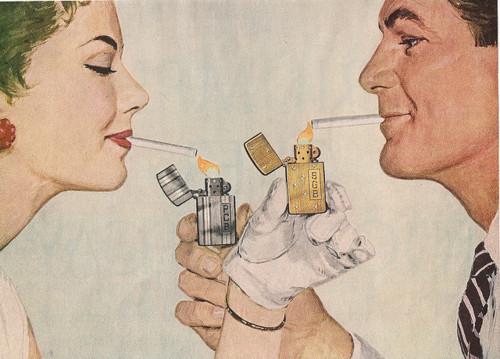 cigarettes, girl, love, retro, sexy