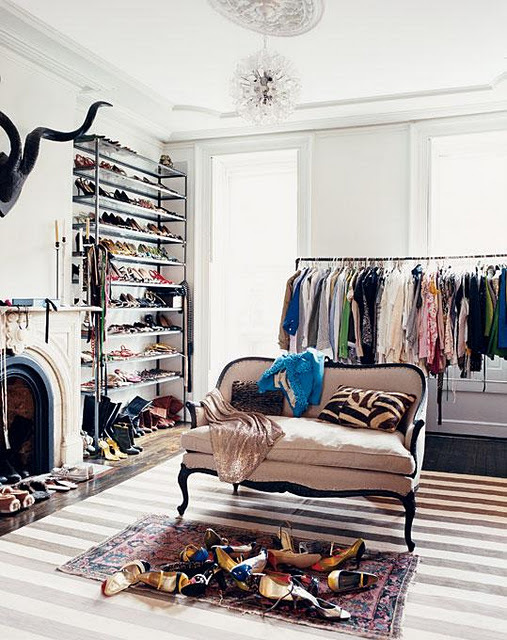 clothes, fashion, walk in closet