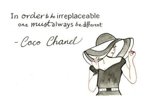 coco chanel, quotes, text, vintage