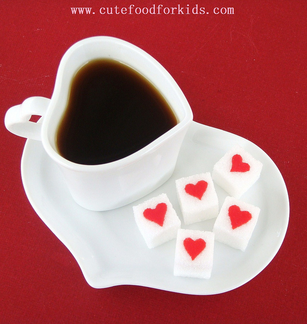 coffee, cute, decoration, heart, love